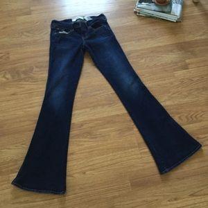 Hollister Dark Blue Bell Bottoms Flare Jeans 3/26